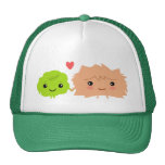 Kawaii Wasabi and Ginger Love Each Other Cap
