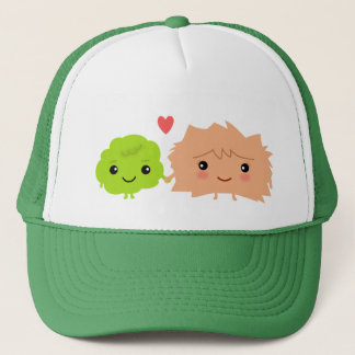 Kawaii Wasabi and Ginger Love Each Other Trucker Hat