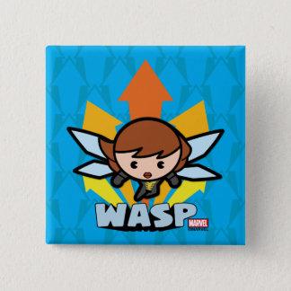 Kawaii Wasp Flying 15 Cm Square Badge