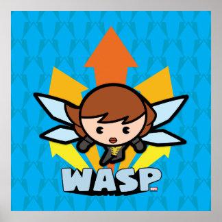Kawaii Wasp Flying Poster