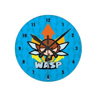 Kawaii Wasp Flying Round Clock