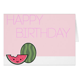 Kawaii Watermelon Birthday Card! Card