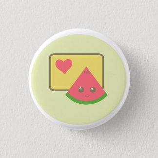 kawaii watermelon button badge