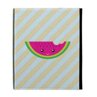 Kawaii watermelon iPad folio covers
