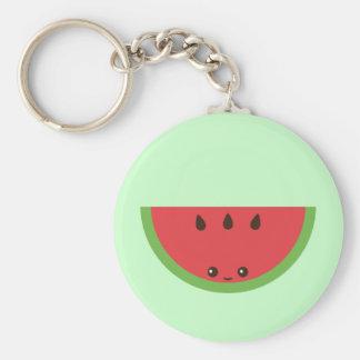 Kawaii Watermelon Basic Round Button Key Ring