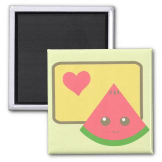 kawaii watermelon magnet