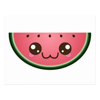 Kawaii Watermelon Postcard