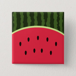 Kawaii Watermelon Round Button