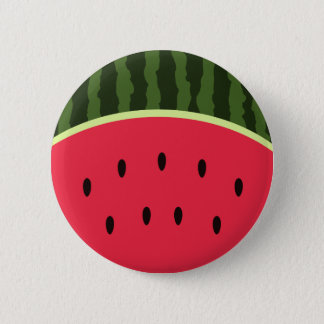 Kawaii Watermelon Round Button