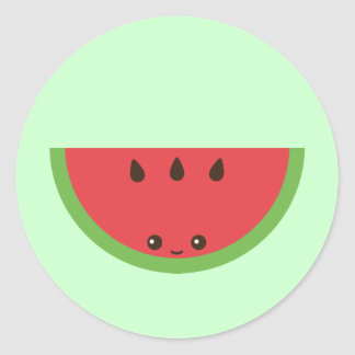 Kawaii Watermelon Round Sticker