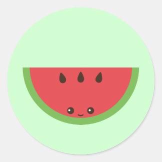 Kawaii Watermelon Round Sticker
