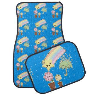 Kawaii weather garden so cute girly pattern floor mat