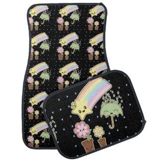 Kawaii weather garden so cute girly pattern car mat