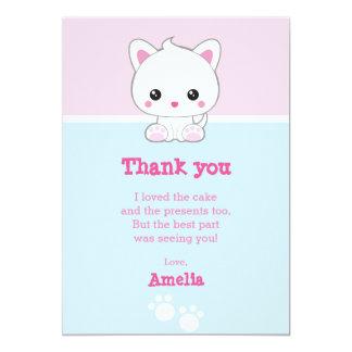 Kawaii White Cat Card