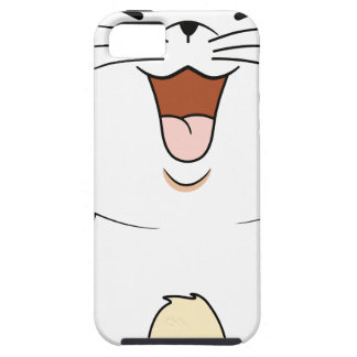 Kawaii white kitten iPhone 5 covers