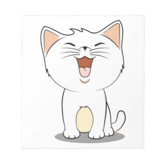 Kawaii white kitten notepad