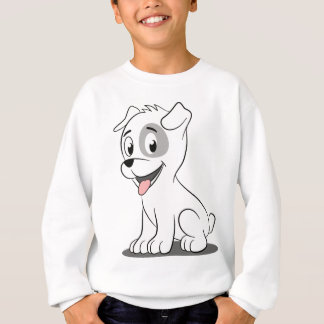 Kawaii white puppy sweatshirt