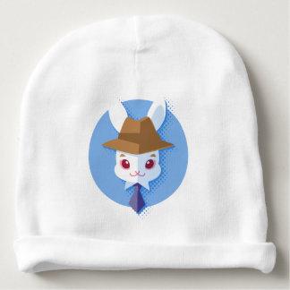 Kawaii White Rabbit Dapper Easter Bunny Baby Beanie
