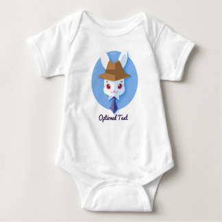 Kawaii White Rabbit Dapper Easter Bunny Baby Bodysuit