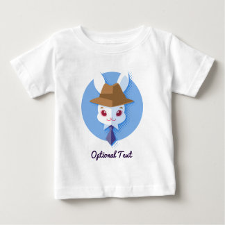 Kawaii White Rabbit Dapper Easter Bunny Baby T-Shirt