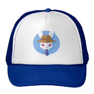 Kawaii White Rabbit Dapper Easter Bunny Cap