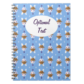 Kawaii White Rabbit Dapper Easter Bunny Pattern Notebooks