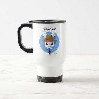 Kawaii White Rabbit Dapper Easter Bunny Travel Mug