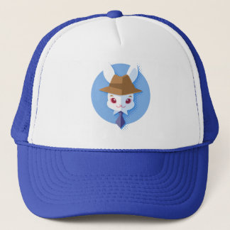 Kawaii White Rabbit Dapper Easter Bunny Trucker Hat