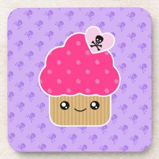 Kawaii Wicked Evil Cute Cupcake Cork Coaster