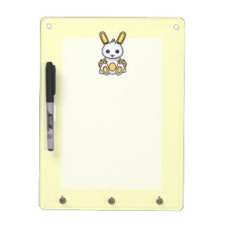 Kawaii Yellow Bunny Dry Erase Board