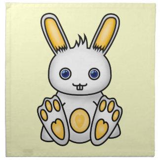 Kawaii Yellow Bunny Napkin