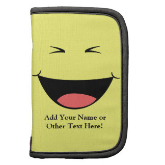 Kawaii Yellow Laughing Face Folio Planners