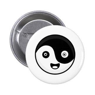 Kawaii Yin Yang 6 Cm Round Badge