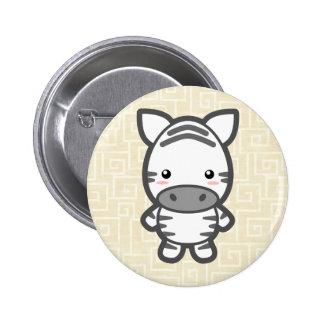 Kawaii Zebra 6 Cm Round Badge