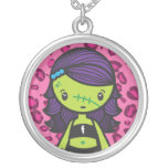 kawaii zombie personalized necklace