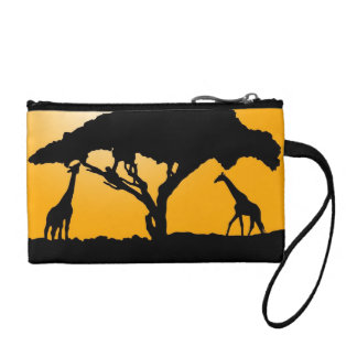 KawaiiDayZooCafe ~ Giraffe Silhouette Clutch Bag