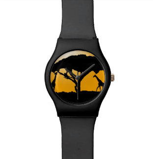 KawaiiDayZooCafe ~ Giraffe Silhouette Watch