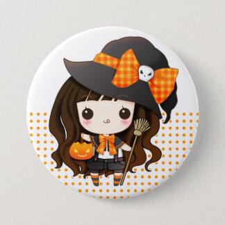 Kawaiii Halloween witch 7.5 Cm Round Badge