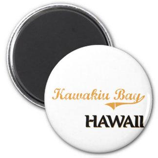 Kawakiu Bay Hawaii Classic 6 Cm Round Magnet
