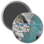 Kawarau Bridge Bungy POV, Queenstown, New Zealand 7.5 Cm Round Magnet