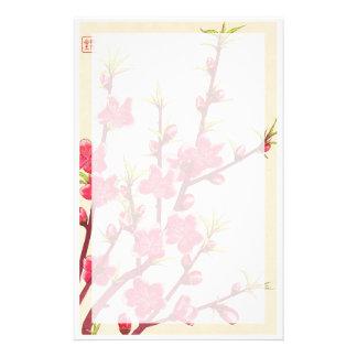Kawarazaki Shodo Floral Calendar of Japan Cherry Custom Stationery