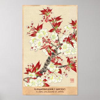 Kawarazaki Shodo Floral Calendar of Japan Poster