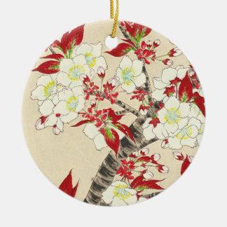 Kawarazaki Shodo Floral Calendar of Japan Round Ceramic Decoration
