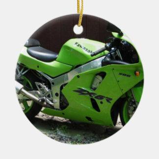 Kawasaki Green Ninja ZX-6R Motocycle, Street Bike Christmas Ornament