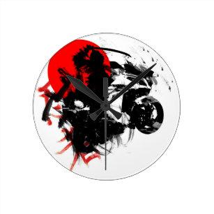 kawasaki ninja round clock