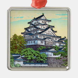Kawase Hasui Pacific Transport Lines Himeji Castle Silver-Colored Square Decoration