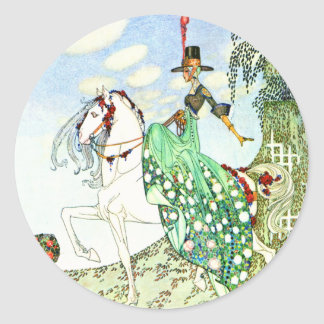 Kay Nielsen s Fairy Tale Princess Minotte Round Stickers