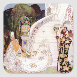 Kay Nielsen's Cinderella Fairy Tale Square Sticker