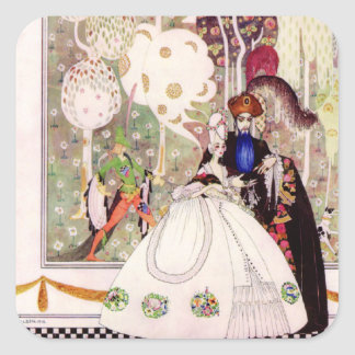 Kay Nielsen's Fairy Tale, Bluebeard and His Wife Square Sticker