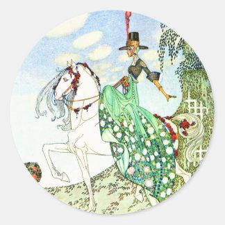 Kay Nielsen's Fairy Tale Princess Minotte Round Sticker